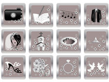 Vector wedding icons 2 Stock Photo