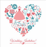 Vector wedding illustration Stock Images
