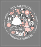 Vector wedding illustration Royalty Free Stock Photo