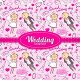 Vector wedding illustration Royalty Free Stock Photos