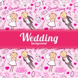 Vector wedding illustration Stock Photography