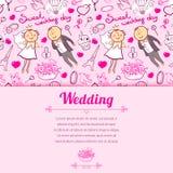 Vector wedding illustration Stock Image