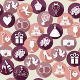 Vector wedding illustration Stock Photography