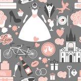 Vector wedding illustration Royalty Free Stock Photos