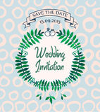 Vector wedding invitation, card design template Stock Images