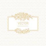 Vector wedding invitation design template stock illustration