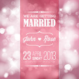 Vector Wedding invitation. Vector retro Typography Wedding invitation with lights royalty free illustration