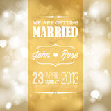 Vector Wedding invitation Royalty Free Stock Photo