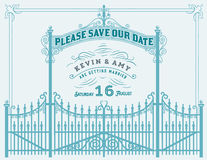 Vector. Wedding invitation vintage card Royalty Free Stock Photo