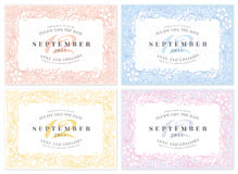 Vector Wedding Invite and Save the Date Royalty Free Stock Images