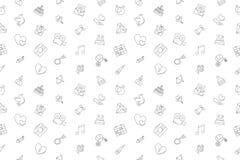 Vector Wedding pattern. Wedding seamless background. Vector illustration Royalty Free Stock Photos