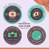 Vector wedding photography badges and labels vector illustration