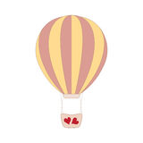 Vector wedding pink balloon on white Royalty Free Stock Images
