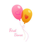 Vector wedding pink balloon on white. Valentines Day Stock Photos