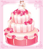 VECTOR wedding pink cake Stock Photography