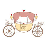 Vector Wedding Retro Carriage With Curls On White Stock Photo