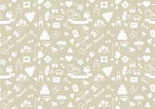 Vector wedding seamless pattern Stock Images