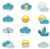 Vector weervoorspellingspictogrammen. Deel 1 Stock Fotografie