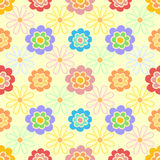 Vector weibliches Blumenhintergrundmuster in den weichen Farben Stockfotografie