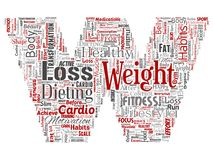Vector weight loss healthy diet transformation. Vector conceptual weight loss healthy diet transformation letter font W word cloud isolated background. Collage Stock Photo