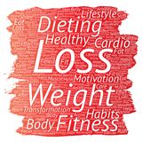 Vector weight loss healthy diet transformation Stock Photos