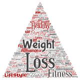 Vector weight loss healthy diet transformation triangle. Vector conceptual weight loss healthy diet transformation triangle arrow word cloud isolated background Royalty Free Stock Image
