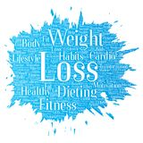 Vector weight loss healthy diet transformation Royalty Free Stock Photos