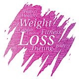Vector weight loss healthy diet transformation Royalty Free Stock Image