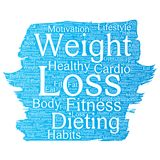 Vector weight loss healthy diet transformation Stock Images