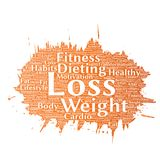 Vector weight loss healthy diet Stock Photography