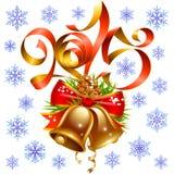 Vector Weihnachts- und des neuen Jahresdekorationssatz 2015 Lizenzfreie Stockfotografie