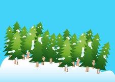 Vector Weihnachtsbaum Lizenzfreies Stockfoto