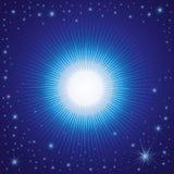 Vector Weihnachtshintergrund mit Sternen auf dem Himmel