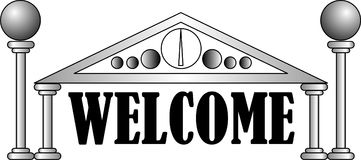 Vector welcome. Vector format welcome sign isolated Royalty Free Stock Photo