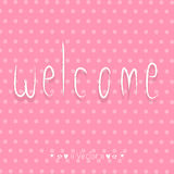 Vector WELCOME hand lettering - handmade calligraphy, Illustration EPS10 Royalty Free Stock Photos