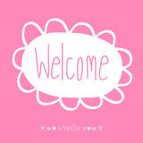Vector WELCOME hand lettering - handmade calligraphy, Illustration EPS10 Stock Photo