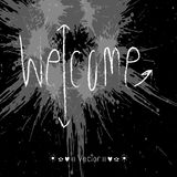 Vector WELCOME hand lettering - handmade calligraphy, Illustration EPS10 Royalty Free Stock Image