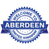 Vector  of WELCOME TO City ABERDEEN Country UNITED KINGDOM. Stamp.  Sticker. Grunge Style. EPS8 . Stock Photography