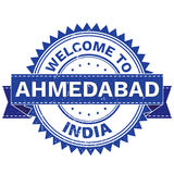Vector  of WELCOME TO City AHMEDABAD Country INDIA. Stamp.  Sticker. Grunge Style. EPS8 . Stock Photo