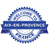 Vector  of WELCOME TO City AIX EN PROVENCE Country FRANCE. Stamp.  Sticker. Grunge Style. EPS8 . Vector Illustration  of WELCOME TO City AIX EN PROVENCE Country Stock Photo