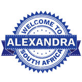 Vector  of WELCOME TO City ALEXANDRA Country SOUTH AFRICA. Stamp.  Sticker. Grunge Style. EPS8 . Royalty Free Stock Photography