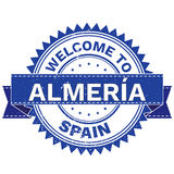 Vector  of WELCOME TO City ALMERIA Country SPAIN. Stamp.  Sticker. Grunge Style. EPS8 . Royalty Free Stock Photography