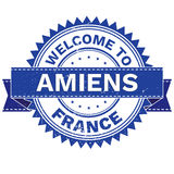 Vector  of WELCOME TO City AMIENS Country FRANCE. Stamp.  Sticker. Grunge Style. EPS8 . Vector Illustration  of WELCOME TO City AMIENS Country FRANCE. Stamp Royalty Free Stock Photography