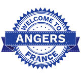 Vector  of WELCOME TO City ANGERS Country FRANCE. Stamp.  Sticker. Grunge Style. EPS8 . Vector Illustration  of WELCOME TO City ANGERS Country FRANCE. Stamp Stock Image