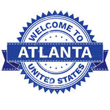 Vector  of WELCOME TO City ATLANTA Country UNITED STATES. Stamp.  Sticker. Grunge Style. EPS8 . Royalty Free Stock Photography