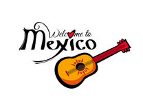 Vector Welcome to Mexico template Stock Images