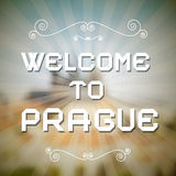 Vector Welcome to Prague Paper Title Stock Photo