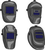 Vector welding mask. Set welding masks of different shapes isolated on white background Royalty Free Stock Images