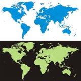 Vector wereldkaart Stock Foto
