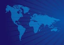 Vector wereldkaart Royalty-vrije Stock Afbeelding